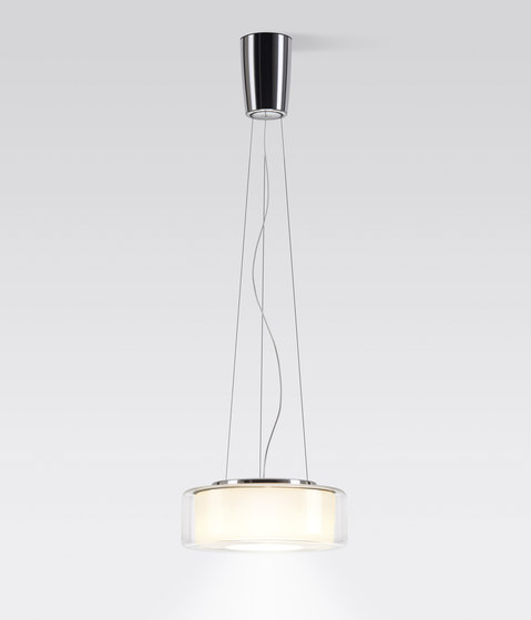 CURLING Suspension Rope | shade clear, reflector cylindrical opal de serien.lighting | Suspensions