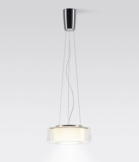 CURLING Suspension Rope | shade clear, reflector conical opal by serien.lighting | Suspended lights