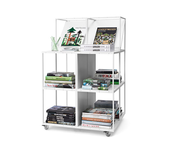 GRID bookcase by GRID System ApS | Book displays / holder