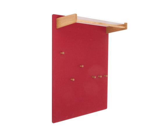 Coat rack panel with a shelve for hats, wide  DBV-291 de De Breuyn | Percheros