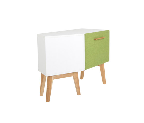 Corpus for corners 155° with door DBV-276 di De Breuyn | Kids storage furniture