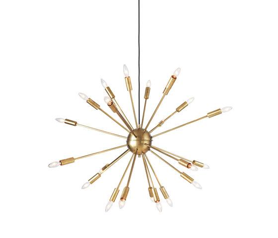 Satellite Chandelier in Brass de Design Within Reach | Lámparas de suspensión