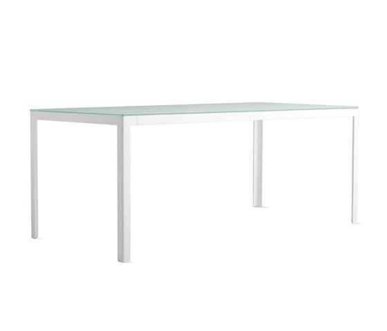 Min Table, Large – Glass Top von Design Within Reach | Esstische