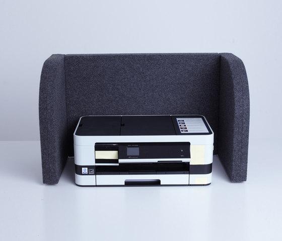 AGORAbox | Akustische Einhausung grau de AGORAphil | Separadores de mesa