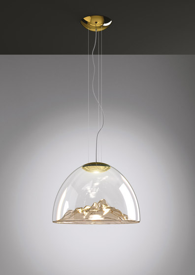 Mountain View SP Amber/Gold by Axolight | Suspended lights