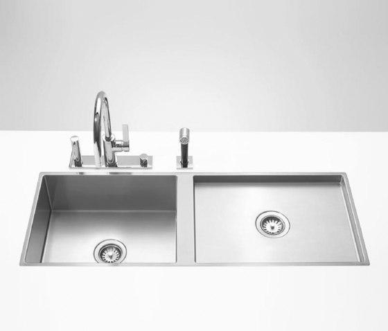 Kitchen sinks in brushed stainless-steel - Double sink by Dornbracht | Kitchen sinks