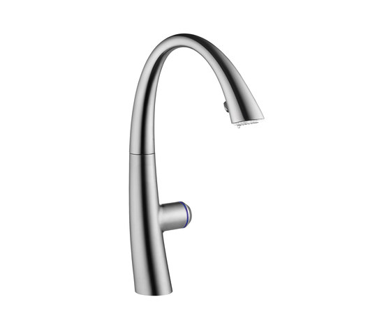 KWC ZOE touch light PRO Electronic controlled, Covered pull-out spray by KWC | Wash basin taps