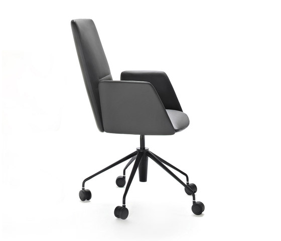 Vela Executive medium-backrest chair by Tecno | Chairs