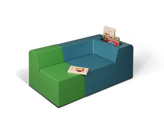 do_linette Kindersessel lang mit Büchernische von Designheiten   Kindersessel / -sofas