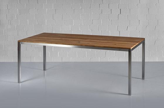 Nojus table tavoli ristorante vitamin design architonic for Tisch lungo vitamin design