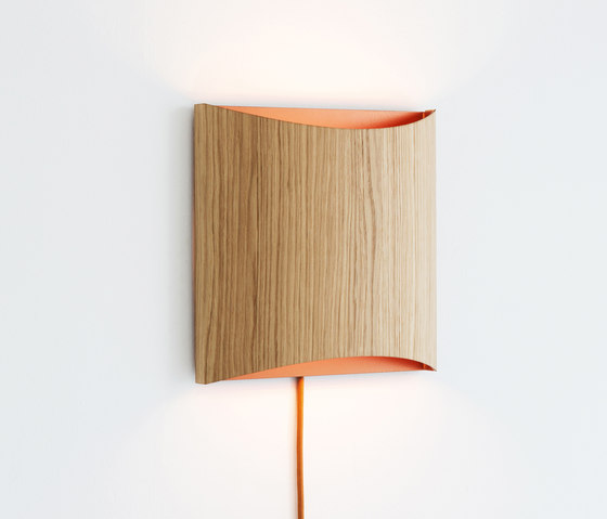 Sophie wall oak copper with cable by lasfera | Wall lights