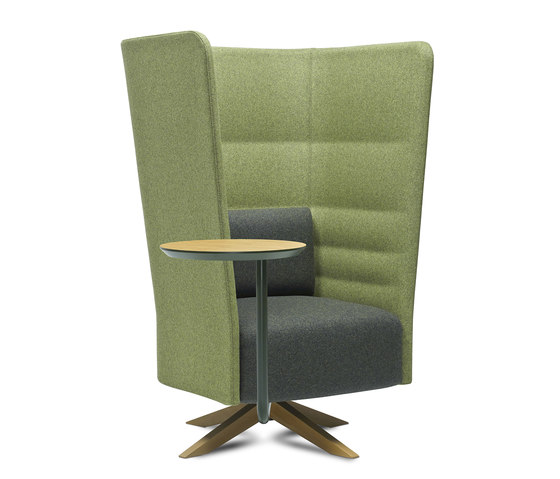 Cell 128 Drehbarer Sessel mit hoher Rückenlehne von sitland | Sessel