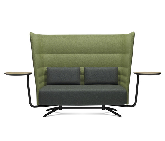 Cell 128 high-back sofa with 4-spoke base by sitland   Sofas