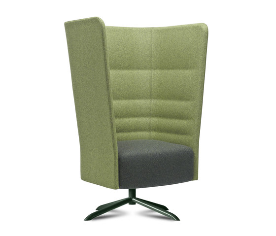Cell 128 swivel high-back armchair with 4-spoke base by sitland | Armchairs