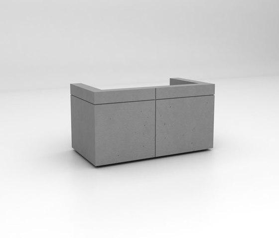 Lintel Reception Desk Configuration 1 de Isomi | Comptoirs