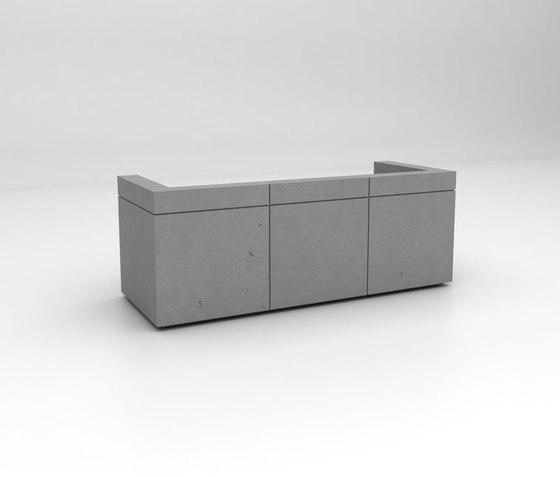 Lintel Reception Desk Configuration 2 de Isomi   Comptoirs