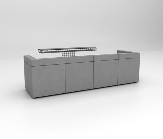 Lintel Reception Desk Configuration 3 by Isomi | Counters