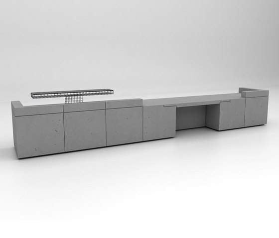 Lintel Reception Desk Configuration 7 de Isomi | Comptoirs