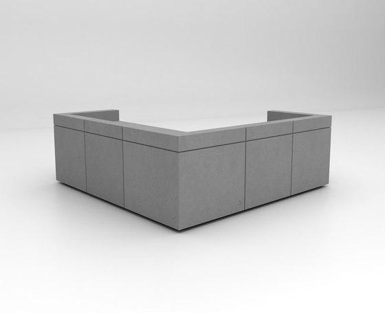 Lintel Reception Desk Configuration 8 de Isomi | Comptoirs