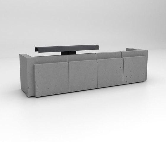 Volume Reception Desk Configuration 4 de Isomi | Comptoirs
