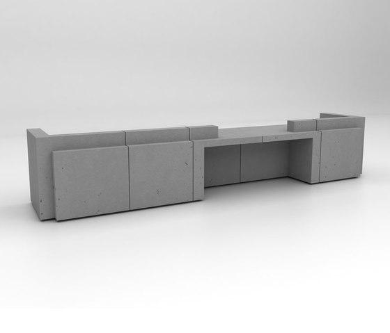 Volume Reception Desk Configuration 6 de Isomi | Comptoirs