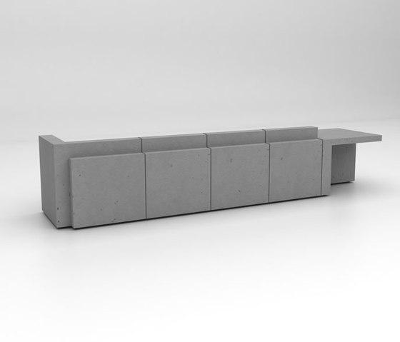 Volume Reception Desk Configuration 7 de Isomi | Comptoirs