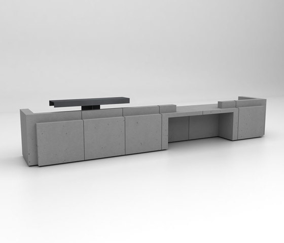 Volume Reception Desk Configuration 8 de Isomi | Comptoirs