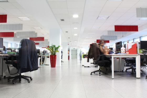 ECOdesk baffles by Slalom | Sound absorbing suspended panels