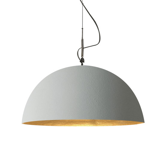Mezza Luna cemento pendant by IN-ES.ARTDESIGN | Suspended lights