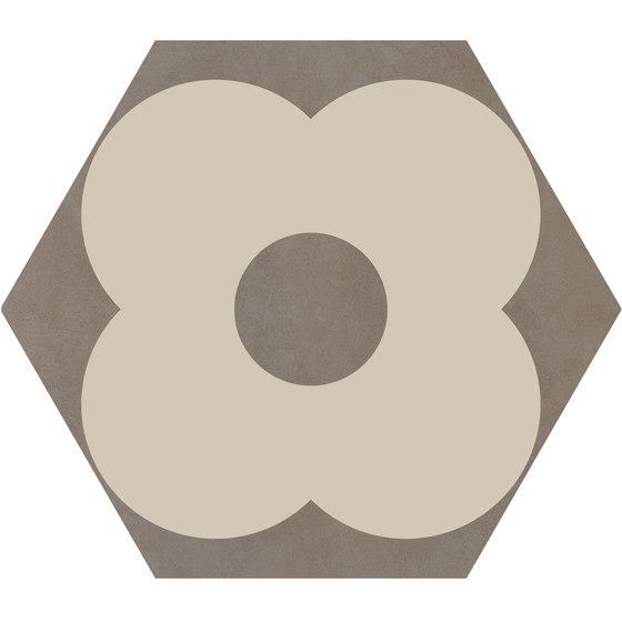 Cørebasics Petals Ashgrey | CB60PA di Ornamenta | Piastrelle ceramica