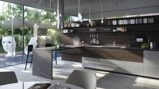 Forma mentis rondover oak wooden door fitted kitchens from valcucine architonic - Valcucine forma mentis ...