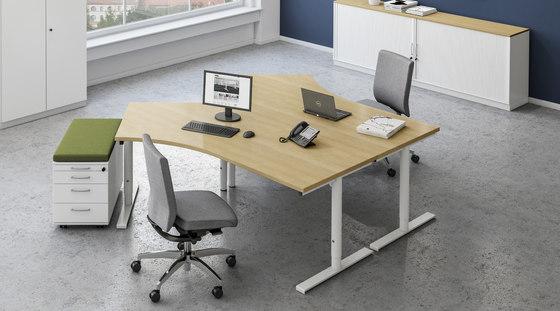 Sympas Desk range by Assmann Büromöbel   Contract tables