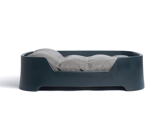 Dog's Palace Large Dark Grey with dark taupe cushion de Wildspirit | Camas para perros