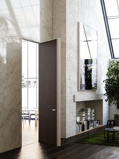 Alba | Puerta Batiente Filo 10 de Linvisibile | Puertas de interior