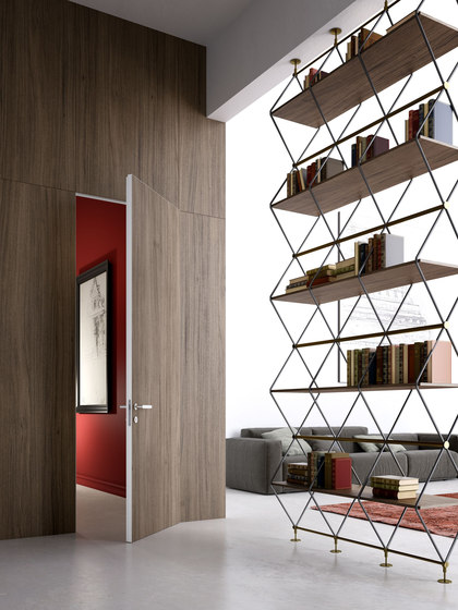 Alba | INFINITO Hinged Door by Linvisibile | Internal doors