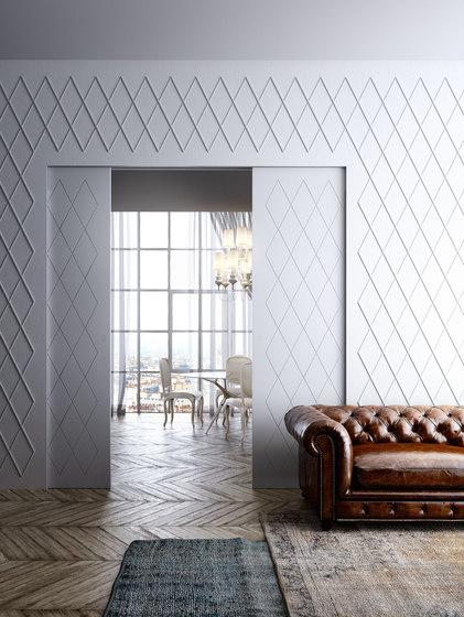 Marea | corredera interior pared de Linvisibile | Puertas de interior