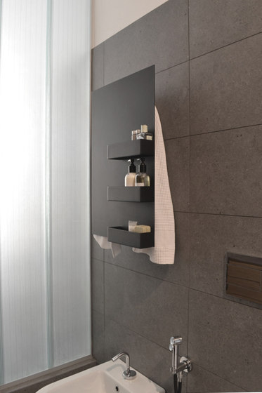 Geometrici towel warmer rectangle & shelves by mg12 | Radiators