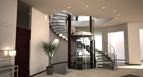 Cobra Glass Elevator by Siller Treppen | Staircase systems