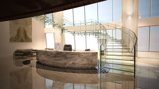 Fly commercial by Siller Treppen | Staircase systems