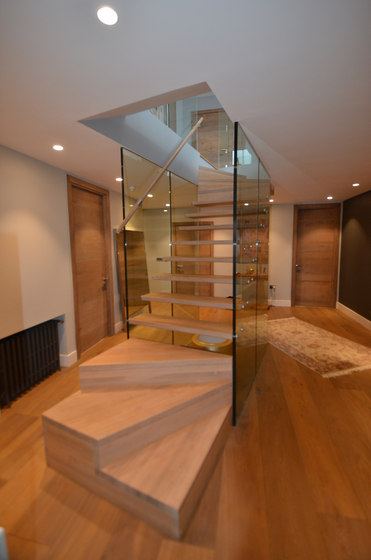 Glass wall staircase Mistral by Siller Treppen | Staircase systems