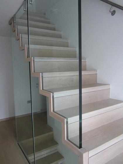 Scala per soppalco in vetro di Siller Treppen | Scale