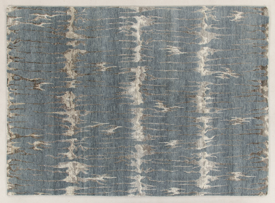 Abstract light blue von Amini | Formatteppiche