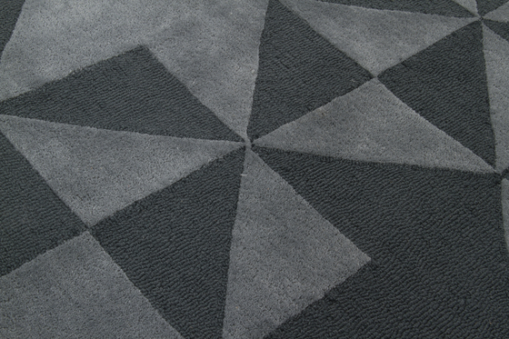 Fold CC2 dark grey by Amini   Rugs