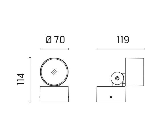Kirk 70 CoB LED / Adjustable - Medium Beam 40° von Ares | Strahler
