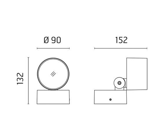 Kirk 90 CoB LED / Adjustable - Medium Beam 30° by Ares | Flood lights / washlighting