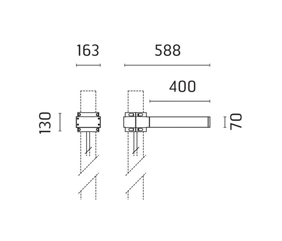Dooku 400 Power LED / Pole Ø 102mm - Single Top Pole - Wide Beam 120° (Wide Spaces - Public Areas - Parking Areas) von Ares | Strahler