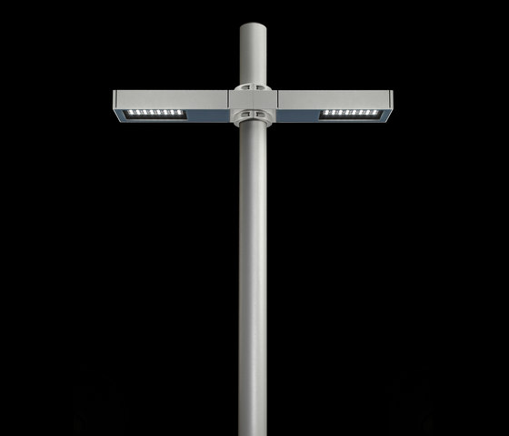 Dooku 400 Power LED / Pole Ø 102mm - Double Top Pole - Wide Beam 120° (Wide Spaces - Public Areas - Parking Areas) von Ares | Strahler
