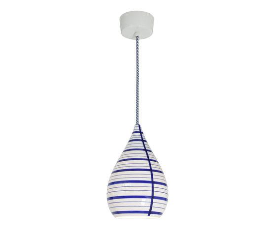 Circle Line Drop Pendant, Blue/White von Original BTC | Allgemeinbeleuchtung
