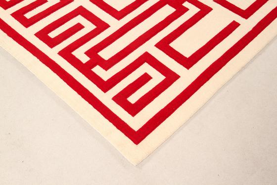 GIO PONTI Labirinto red by Amini | Rugs