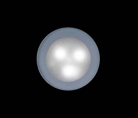 Tapioca Power LED / Ø 70mm - Sandblasted Glass by Ares | Outdoor wall lights